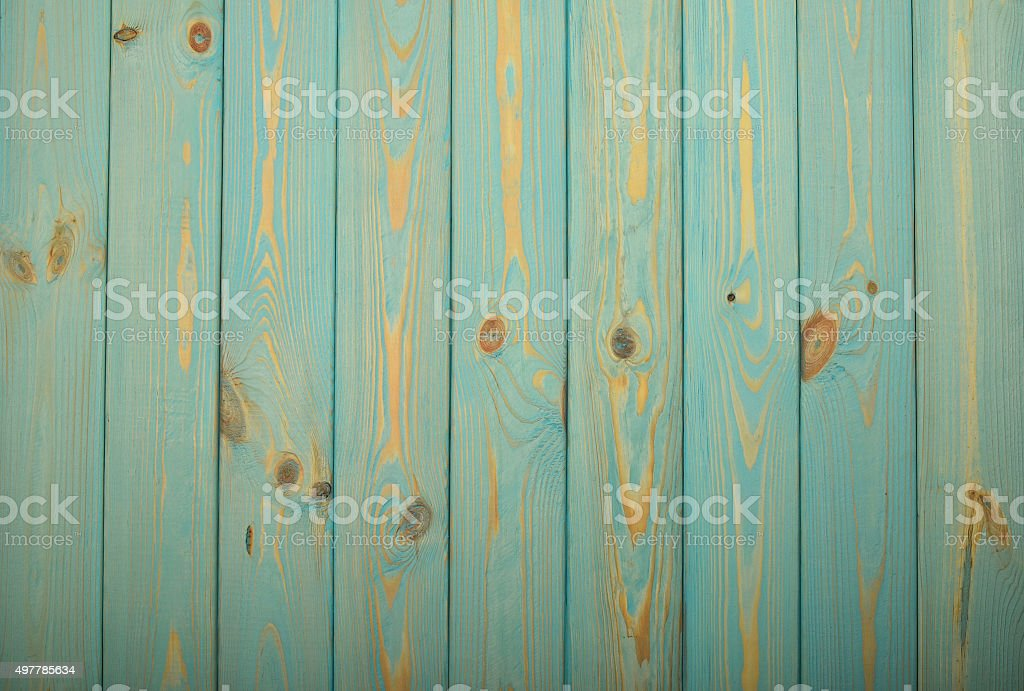 Blue vintage painted wooden panel with veryical planks royalty-free stock photo