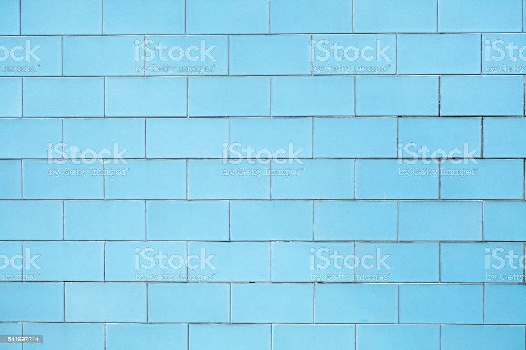 Blue vintage tiles background stock photo