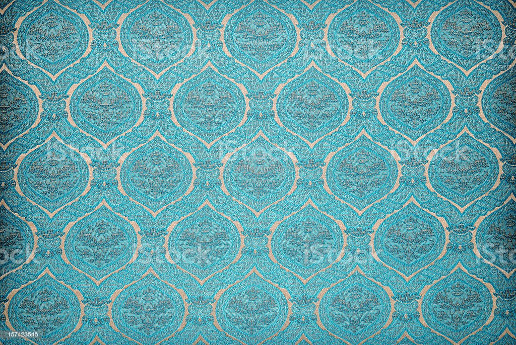 Blue vintage wallpaper background texture royalty-free stock photo