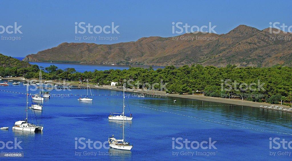 Blue Voyage, Akbuk /  Datça / Marmaris / Turkey stock photo