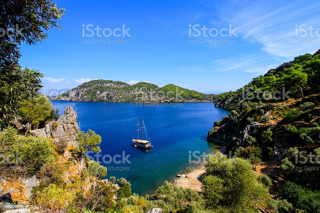Blue Voyage - stock photo