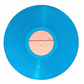 Blue vynil disc