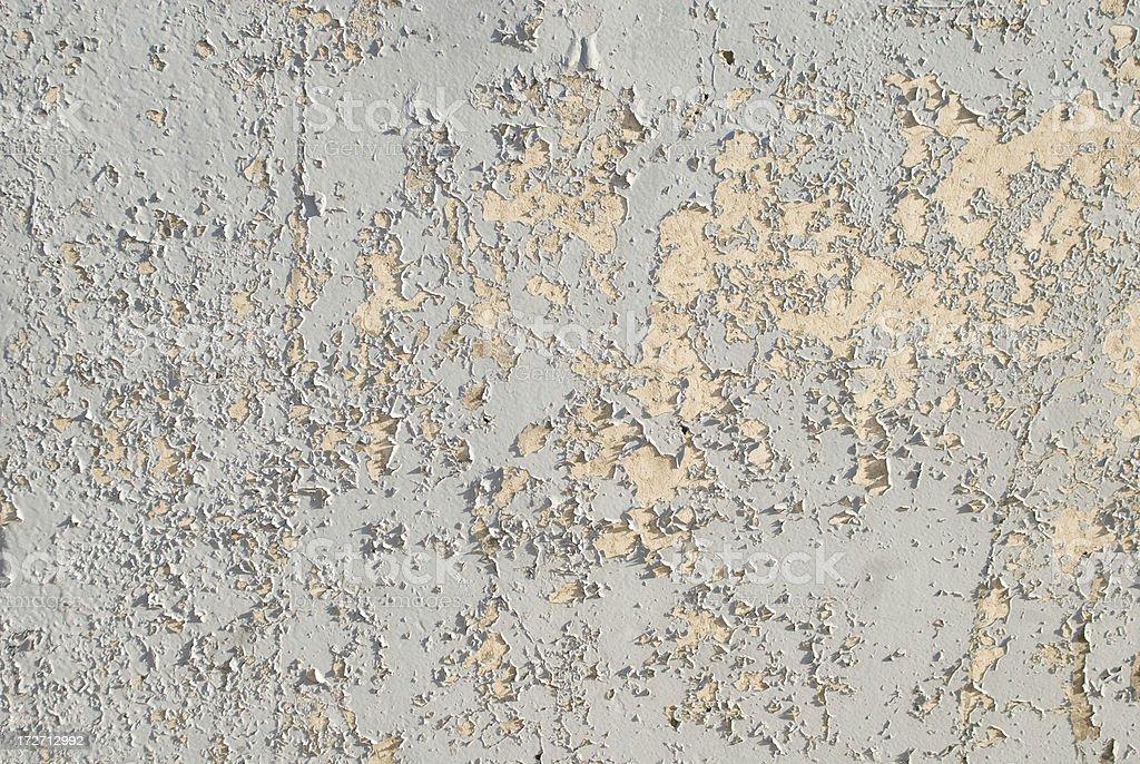 Blue Wall Peeling into Yellow stock photo