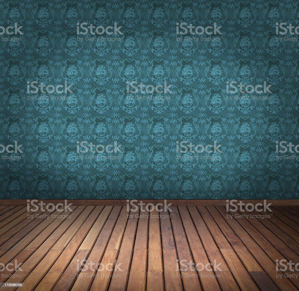 blue wallpaper room royalty-free stock photo