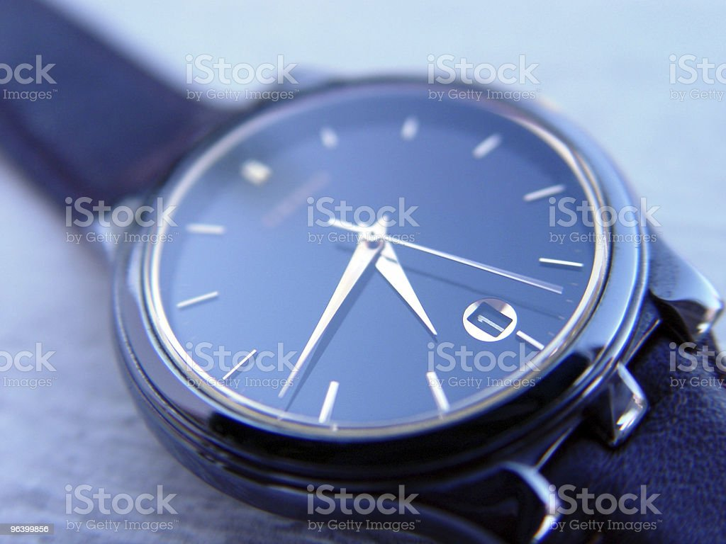 Blue watch royalty-free stock photo