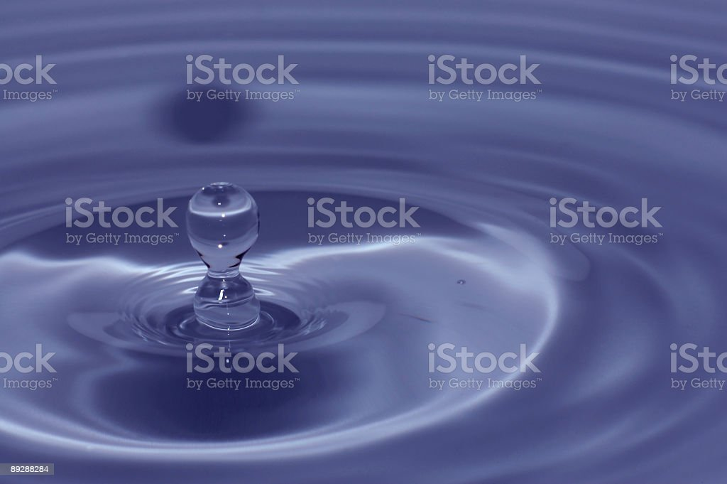 Blue water abstract background royalty-free stock photo