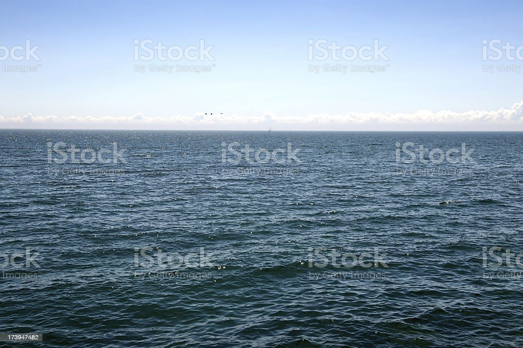 Blue Water and Clear Sky royalty-free stock photo