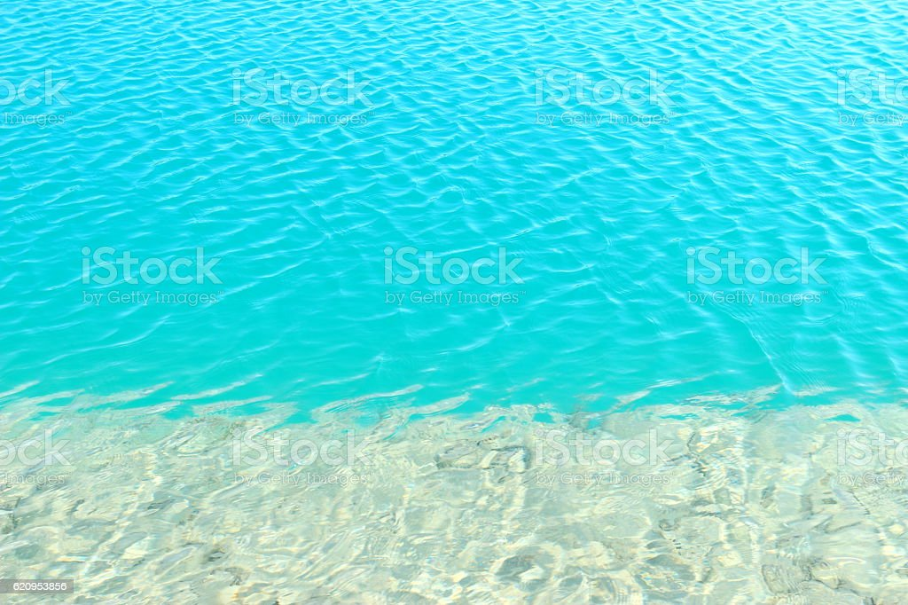 Blue water background and ripple surface. stock photo