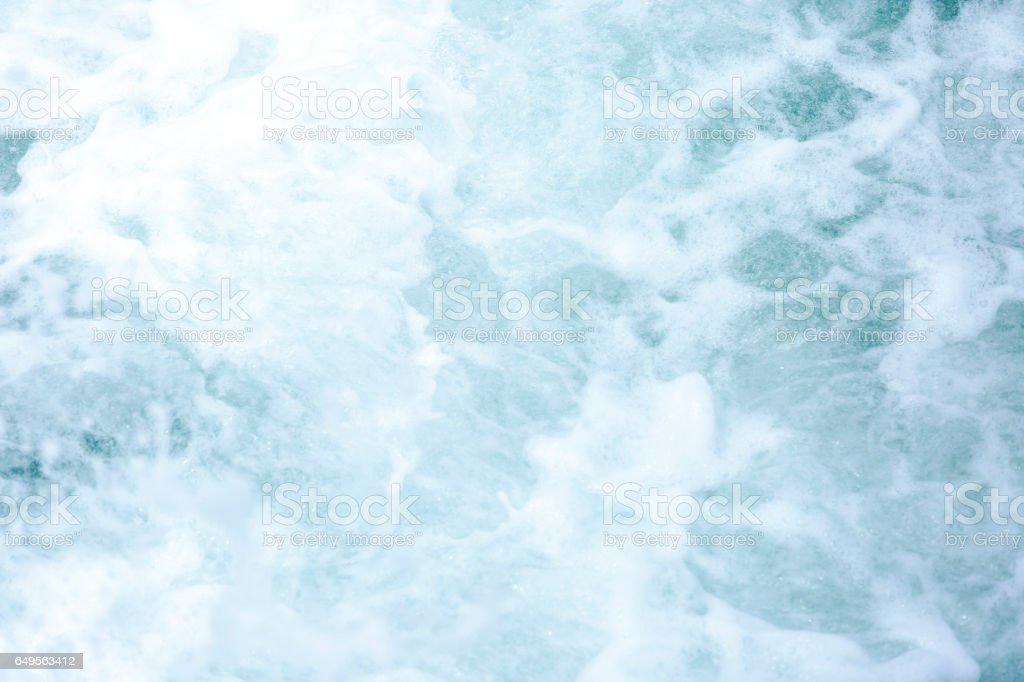 Blue water background with copy space stock photo