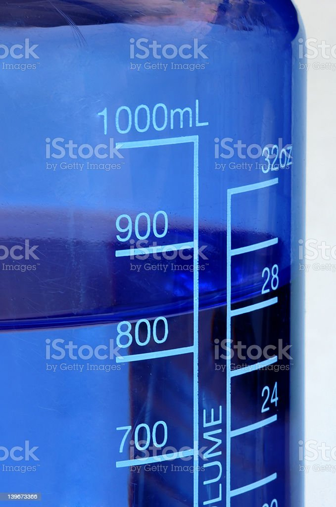 Blue Water Bottle Close Up royalty-free stock photo