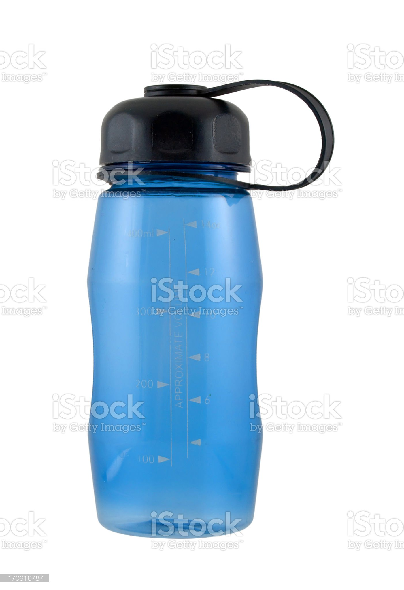 Blue Water Bottle royalty-free stock photo