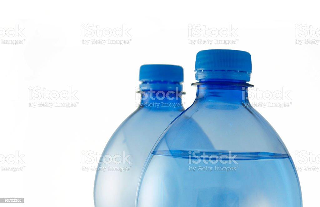 blue water bottles royalty-free stock photo