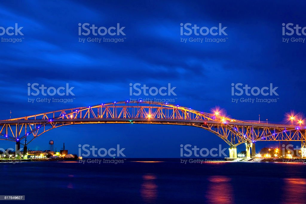 Blue Water Bridge 1 stock photo