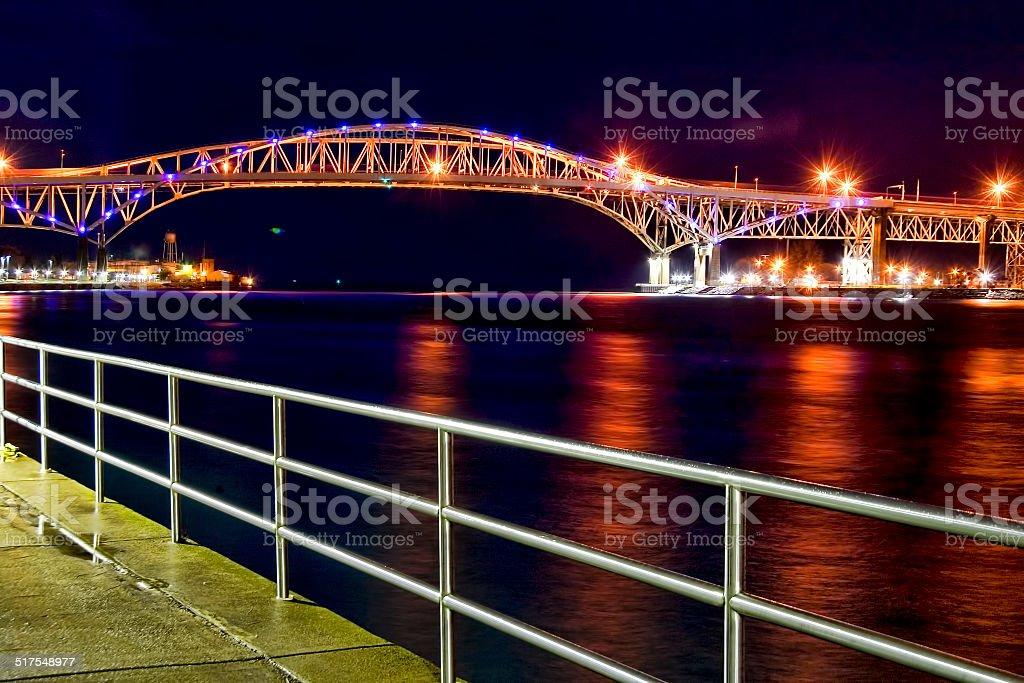 Blue Water Bridge 2 stock photo