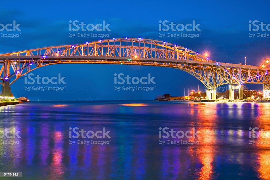 Blue Water Bridge 3 stock photo