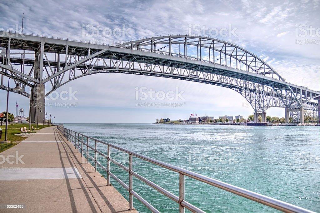 Blue Water Bridge stock photo