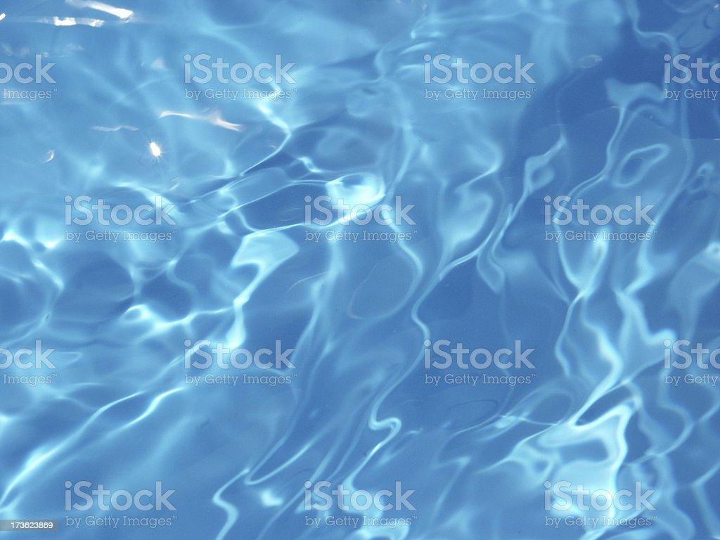 Blue water closeup royalty-free stock photo