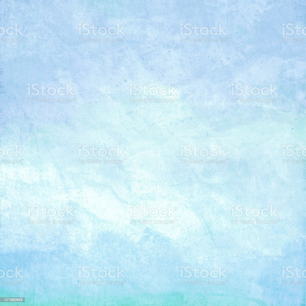 Blue Water color on old paper texture stock photo