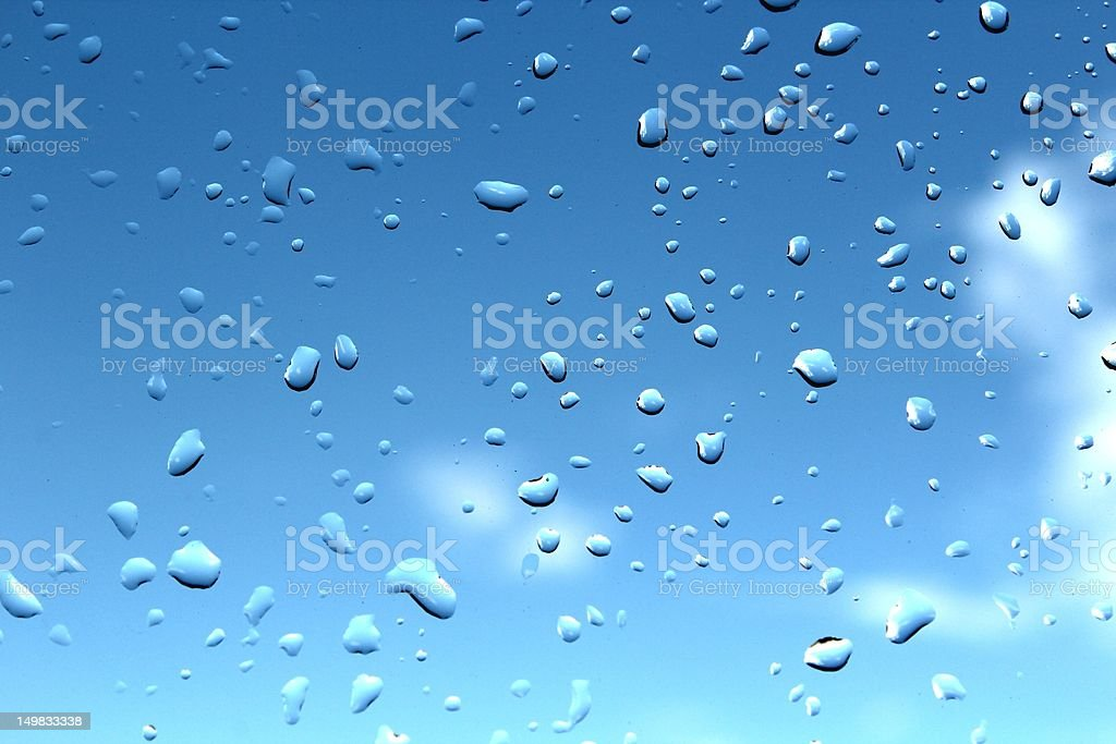 Blue Water Drops Background royalty-free stock photo
