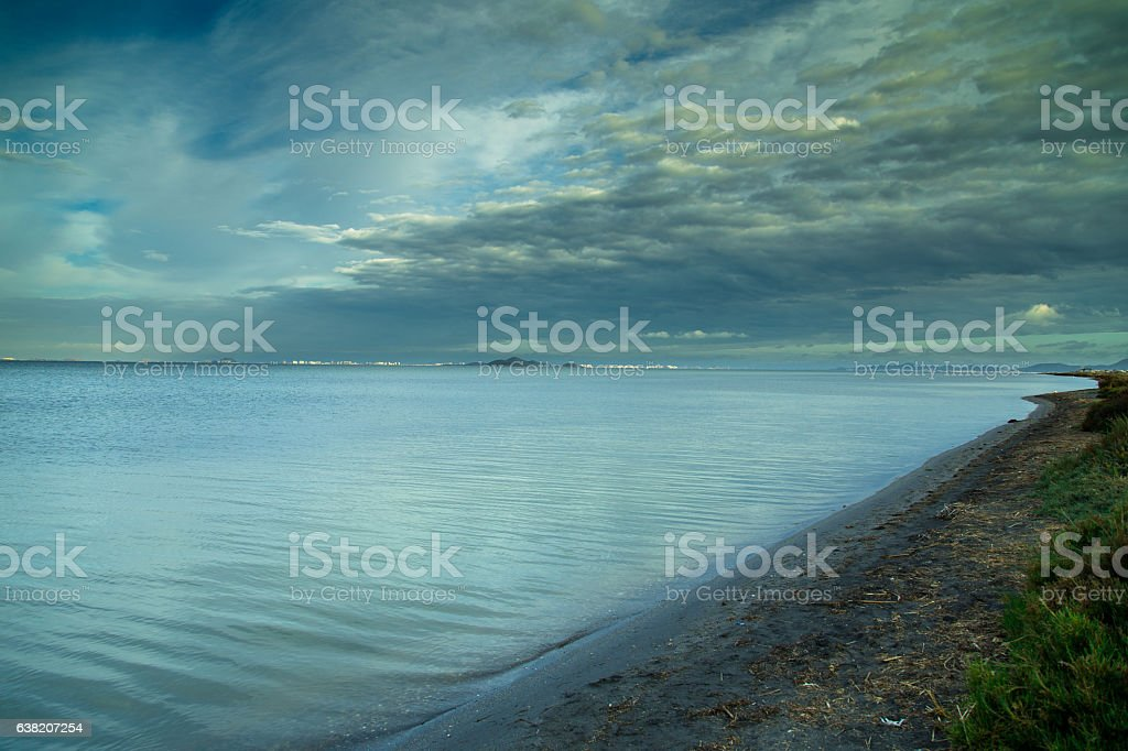 Blue Water Lagoon stock photo