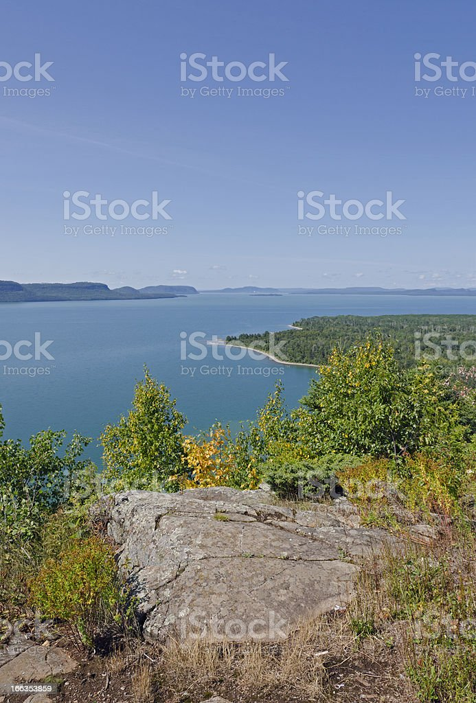 blue water of Superior Lake royalty-free stock photo