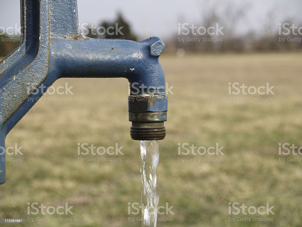 Blue water pump royalty-free stock photo