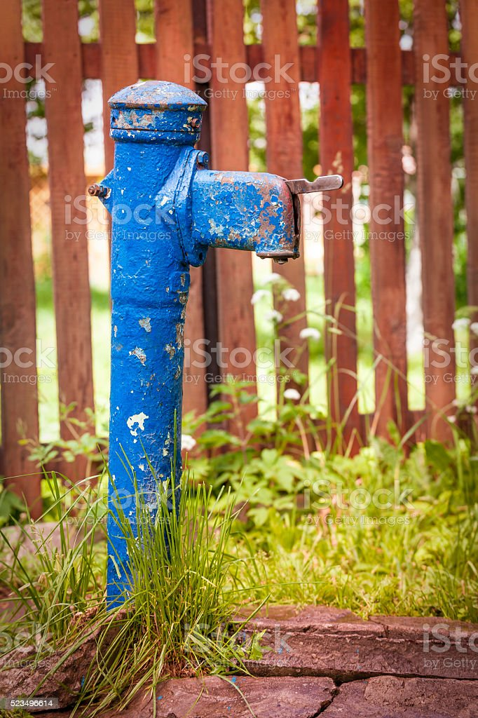 Blue Water Pump stock photo