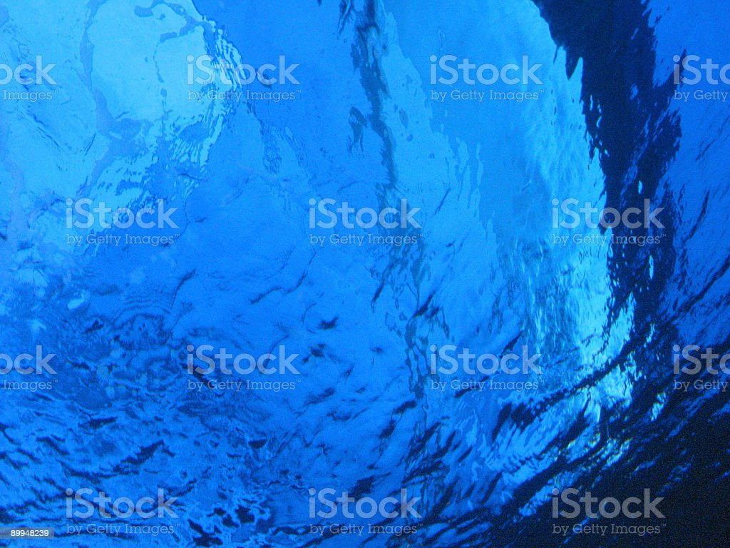 Blue Water Reflections royalty-free stock photo