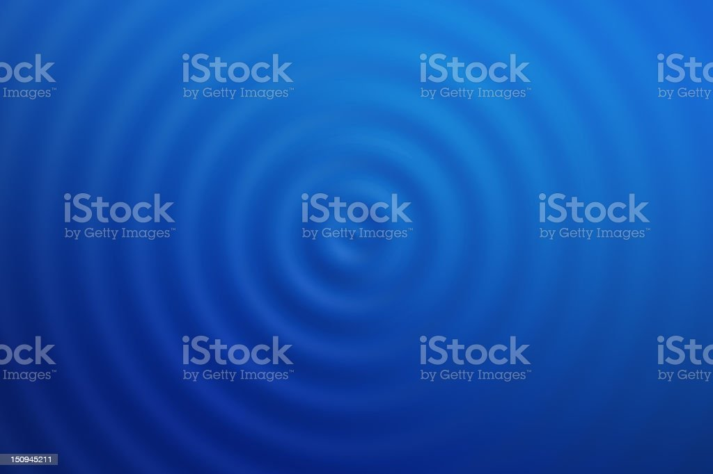 Blue Water Ripples from Top royalty-free stock photo