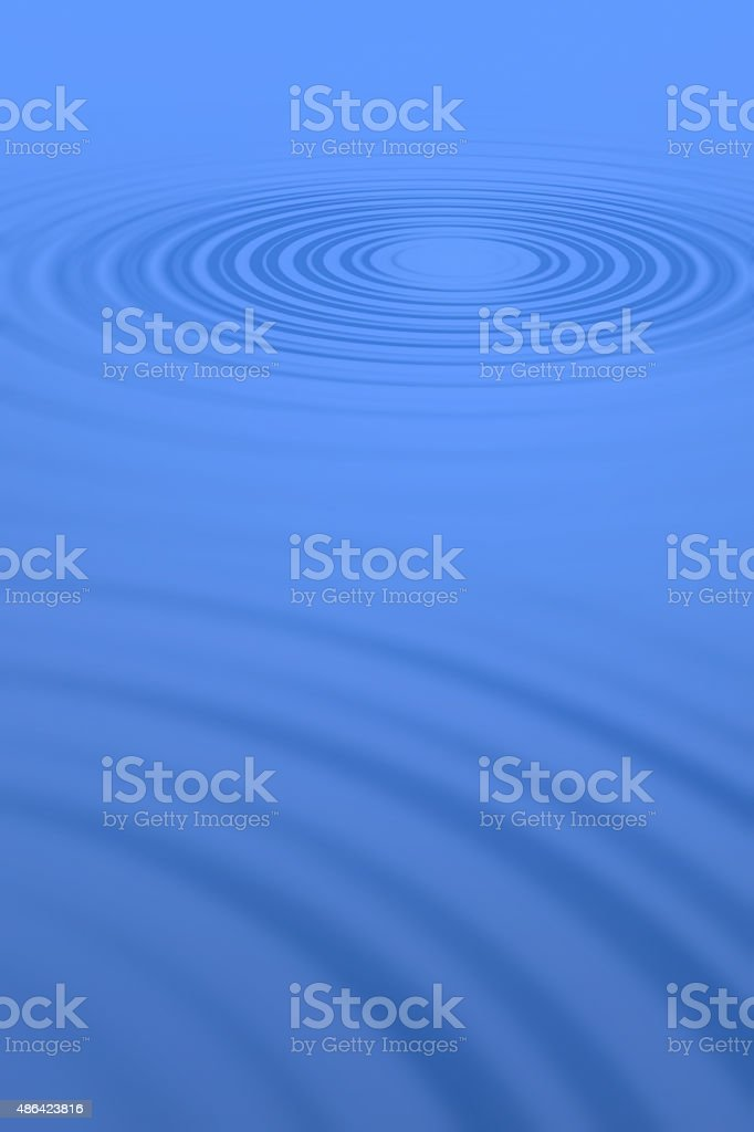 Blue water ripples stock photo