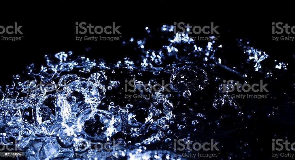 Blue water splash royalty-free stock photo