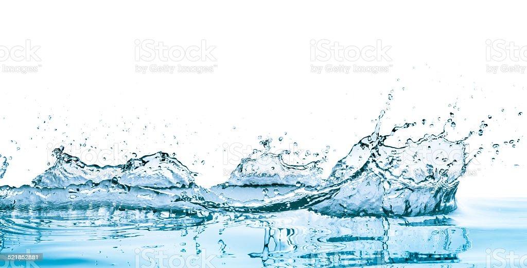 blue water splash stock photo