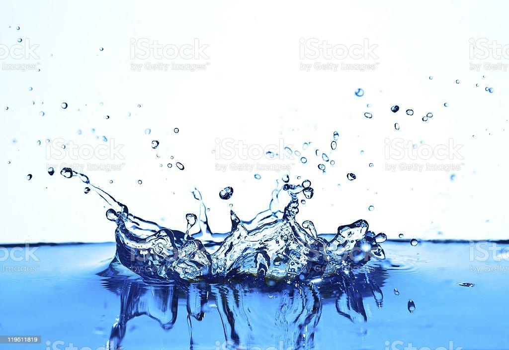 Blue water splashisolated. stock photo
