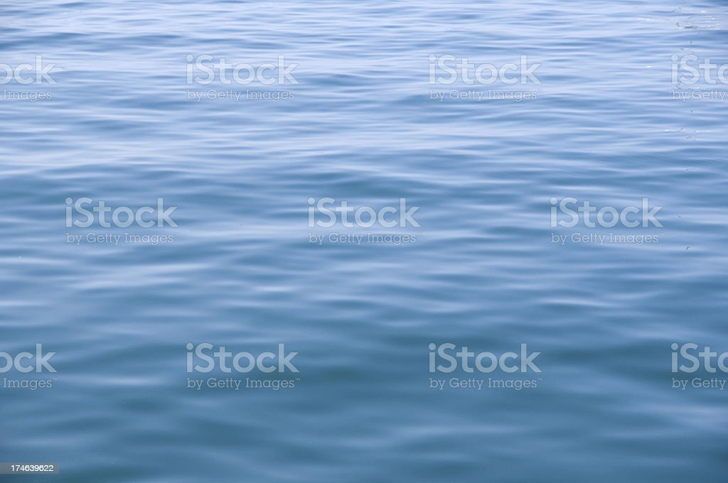 blue water surface and smooth wave pattern royalty-free stock photo
