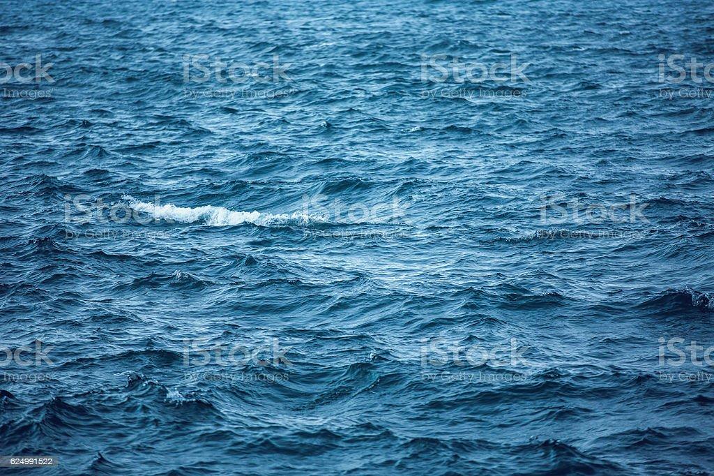 Blue Water Texture Pattern, Caribbean sea stock photo