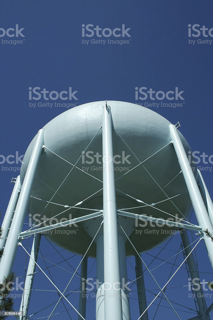 Blue Water Tower royalty-free stock photo