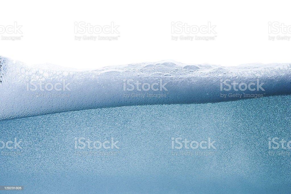 Blue water vawe stock photo