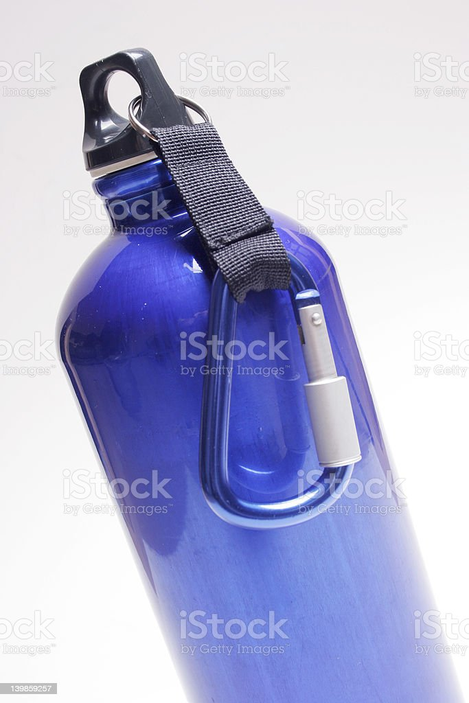 Blue Waterbottle royalty-free stock photo