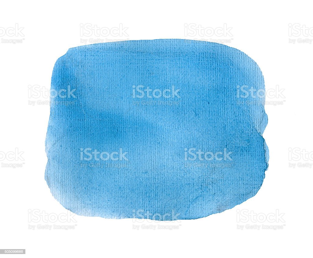 Blue watercolor background isolated. stock photo