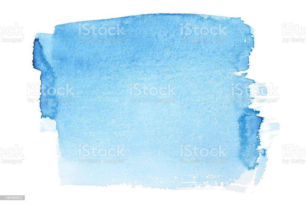 Blue watercolor brush strokes royalty-free stock photo