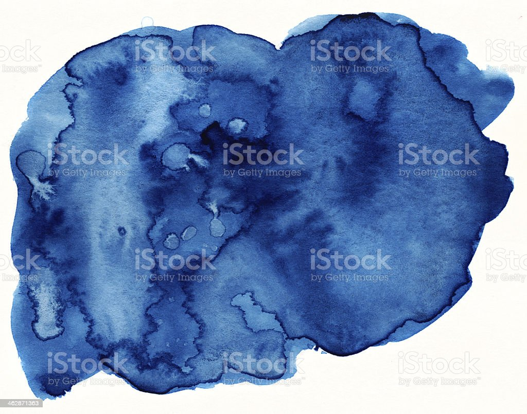 Blue watercolor element stock photo