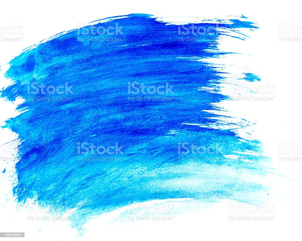 Blue watercolor stain stock photo