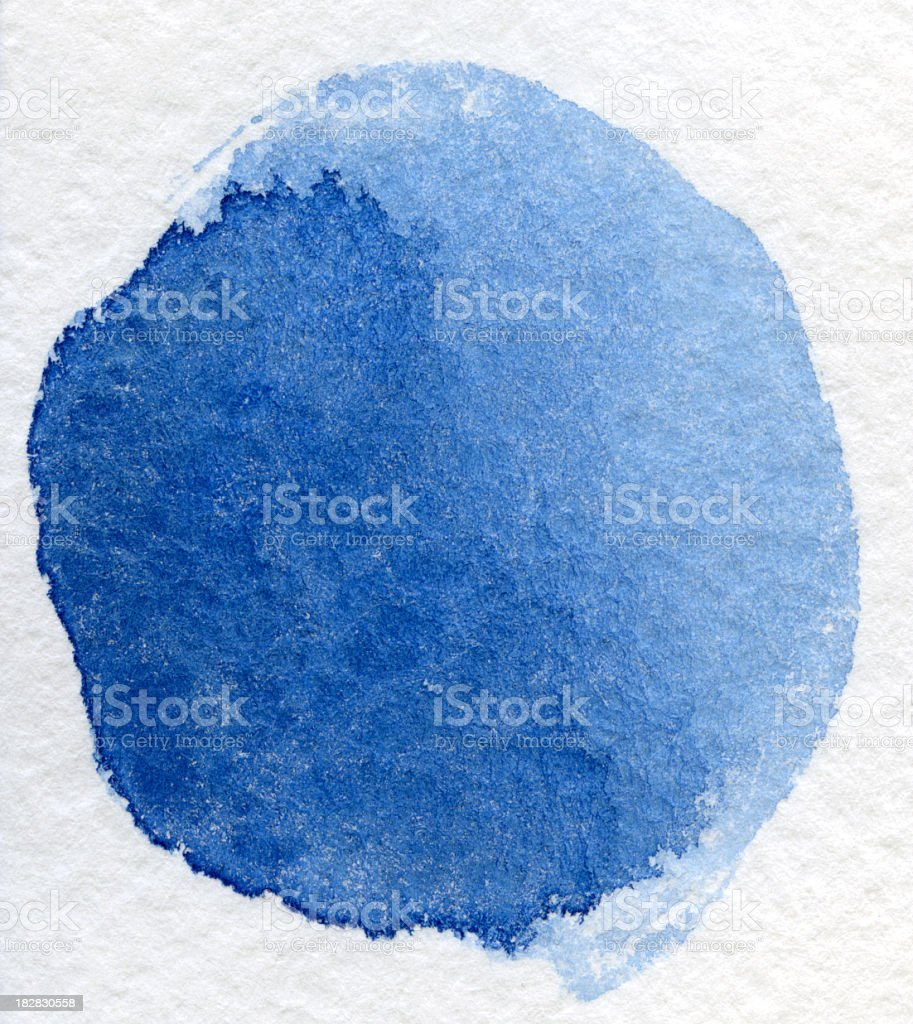 Blue watercolor textured background stock photo