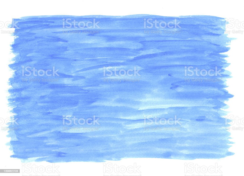Blue Watercolour paint texture royalty-free stock photo