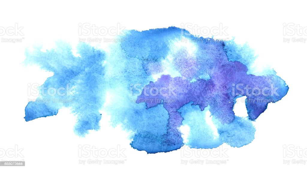 Blue water-colour stains stock photo