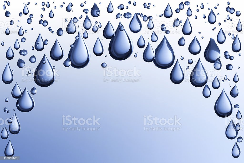 Blue waterdrop isolated on background stock photo