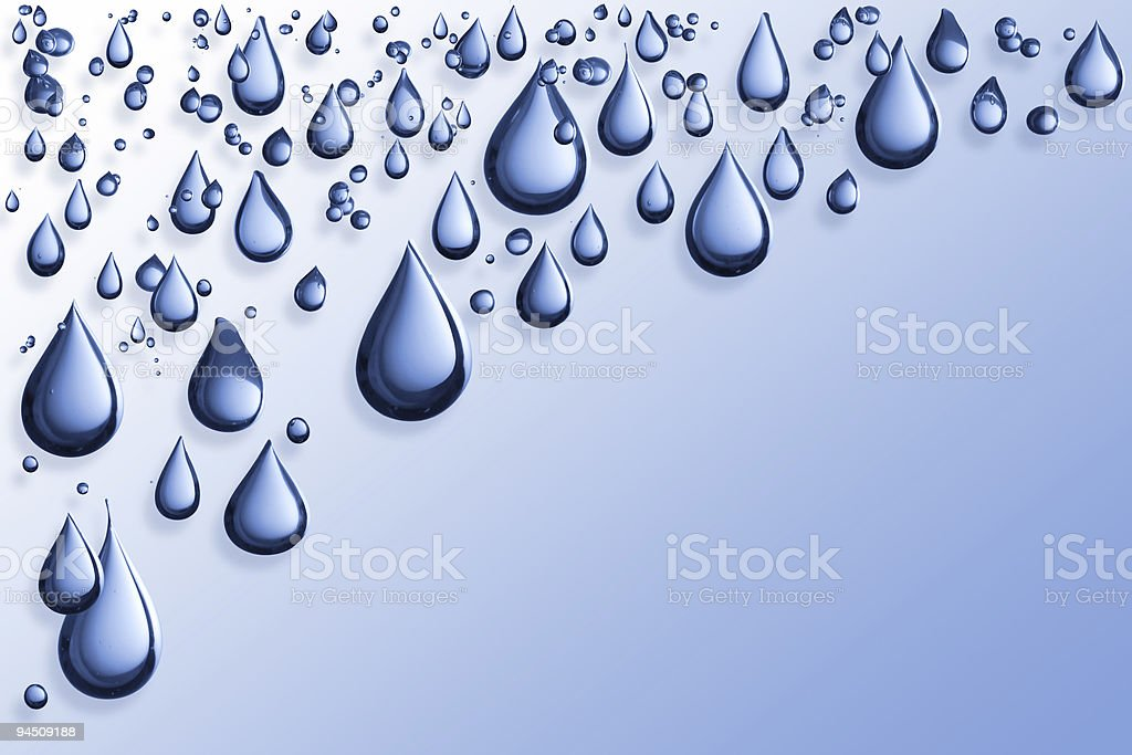 Blue waterdrop on isolated on background stock photo