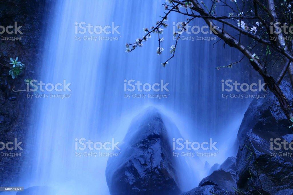 'Blue waterfall' royalty-free stock photo