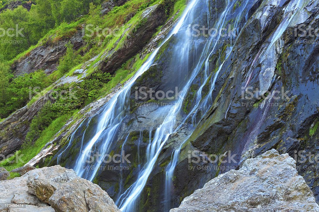 blue waterfall royalty-free stock photo