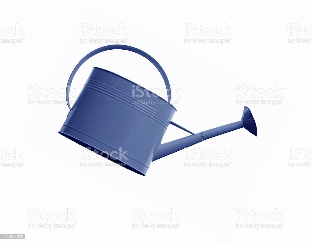 Blue Watering Can royalty-free stock photo